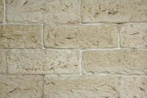 Decorative Old Limestone Wall