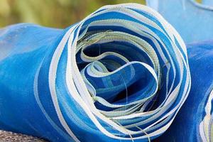 coloridas redes de pesca foto