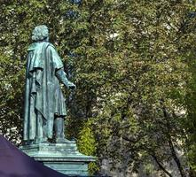 Beethoven Monument on the Munsterplatz in Bonn photo