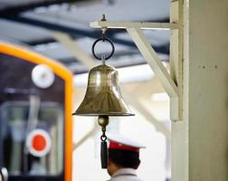 bell in railway station