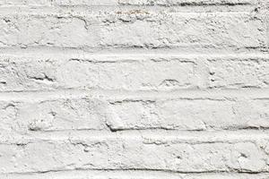 mur de briques blanches