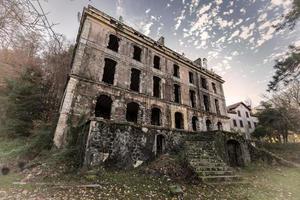Derelict hotel at Vizzavona in Corsica