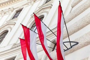 Banderas de la ciudad de Viena en Austria