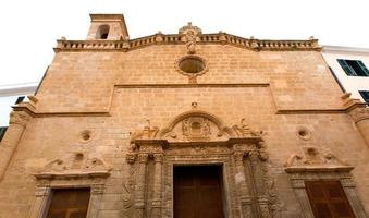 Menorca El Roser church in Ciutadella downtown at Balearics