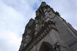 Facade of Notre Dame de Paris photo