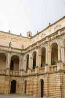 Facade of bishopric in Lecce photo