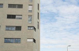 half facade and half sky photo