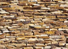 kleurrijke stenen muur close-up