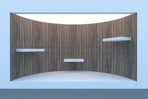 Empty circle storefront or podium with lighting