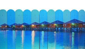 """""""seascape of Sipadan"""" Mural. The wooden fence painting  concept photo"""