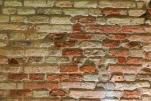 Brick wall blurred