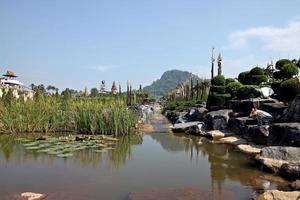 Thailand garden view.