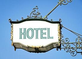 hotel sign