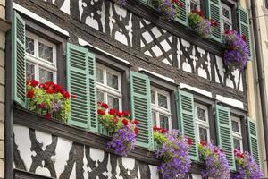Half timbered house in upper Franconia, Germany photo