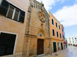 Ciutadella Menorca carrer Mao church downtown