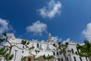 Menorca Sant Lluis white mediterranean church in Balearic