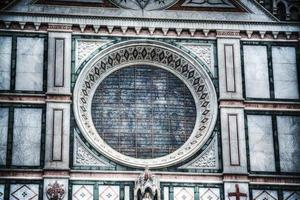 rose window in Santa Croce cathedral in Florence