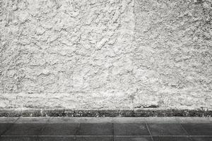 Urban background interior with white grungy concrete wall photo