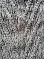 Knitting wool texture grey background