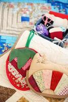 Handmade quilt potholders photo