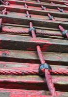 escalera de cuerda foto
