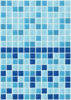tile mosaic square blue texture background decorated glitter photo