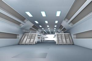 interior da estação espacial