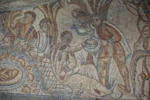 Detalle de mosaico de suelo romano