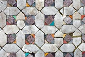 Pisos de mosaicos antiguos. primer plano de textura