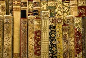 Persian carpets on display