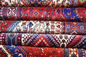 Persian carpets with multiple colors