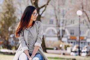 beautiful young fashion girl photo