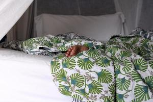 sleep on the bed