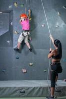 Climbing the wall photo