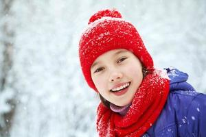 girl in the winter. teen outdoors photo