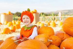 kid at halloween photo