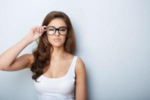 woman in glasses photo