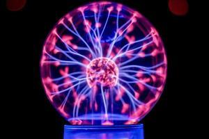 Close-up of plasma globe