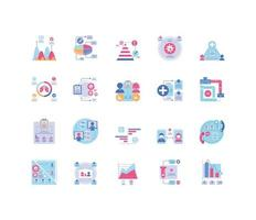 Healthcare infographics set of icons  vector