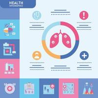 infografía con conjunto de iconos de salud