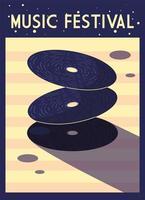 cartel del festival de música con instrumentos musicales
