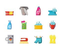 Cleaning icons collection  vector