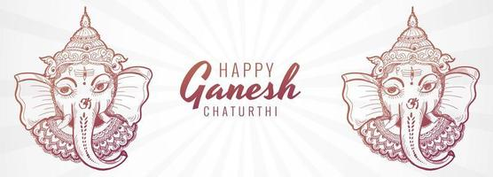 banner artístico creativo del festival ganesh chaturthi