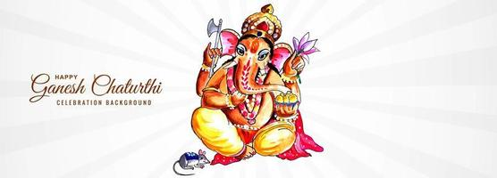 Lord Ganpati Banner for Ganesh Chaturthi Background