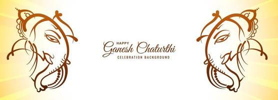 Festival for Happy Ganesh Chaturthi Banner
