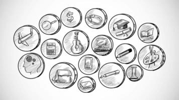 Hand-Drawn Business Icons Set