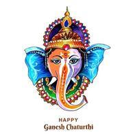 Lord Ganesha for Ganesh Chaturthi Card vector