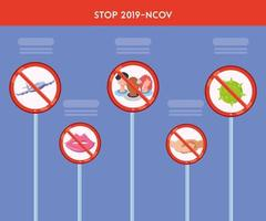 Infographic with preventive measures against coronavirus