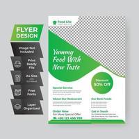 Healthy food discount green gradient poster template vector