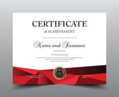Red Polygon Certificate Template